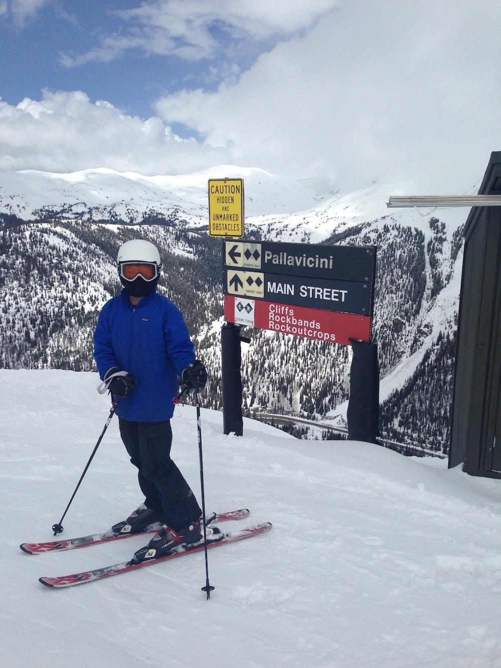 On top of Pallavicini Ski Run